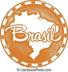 francobollo, vendemmia, brasil
