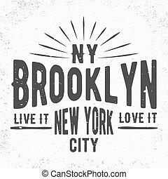 francobollo, vendemmia, brooklyn