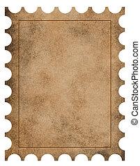 francobollo, vendemmia, fondo