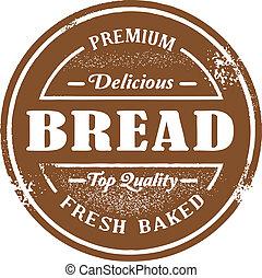 francobollo, vendemmia, stile, bread