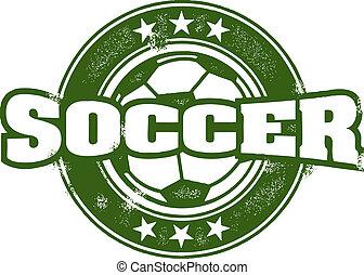 francobollo, vendemmia, stile, squadra calcio