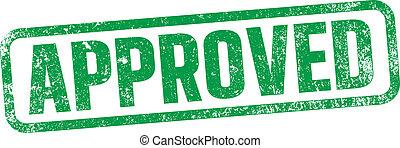 francobollo, verde, approvato, inchiostro