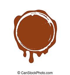 francobollo, vettore, cioccolato