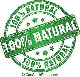 francobollo, vettore, naturale