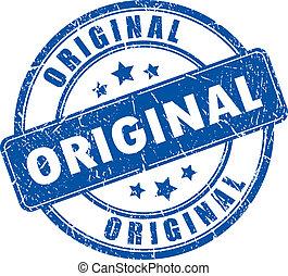 francobollo, vettore, originale