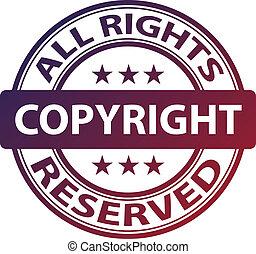 francobollo, vettore, puro, copyright