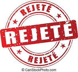 francobollo, vettore, rifiutato