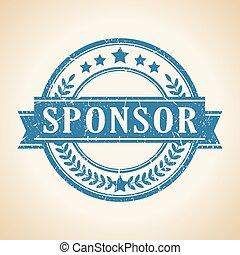 francobollo, vettore, sponsor