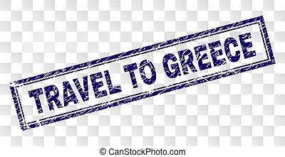 francobollo, viaggiare, grunge, rettangolo, grecia
