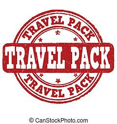 francobollo, viaggiare, pacco