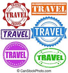 francobollo, viaggiare