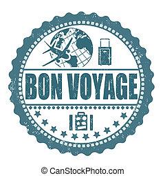 francobollo, viaggio, bon