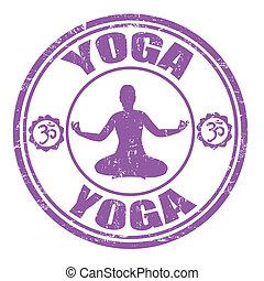 francobollo, yoga