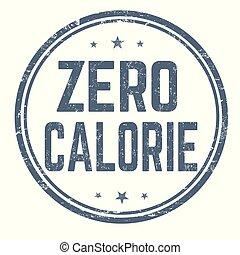 francobollo, zero, caloria, o, segno