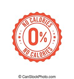 francobollo, zucchero, percento, dieta, caloria, zero, icon., basso, simbolo