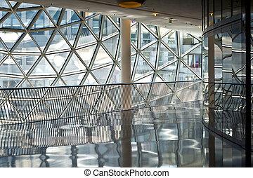 francoforte, centro commerciale, futuristico