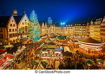 francoforte, natale, mercato
