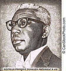 Francois Duvalier (1907-1971) on 1 Gourde 1984 Banknote from Haiti. President of Haiti during 1957-1971.