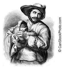francois, langlois, livreiro, de, a, décimo séptimo século,...