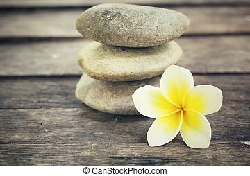 frangipani, com, spa, pedras