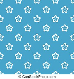 Frangipani flower pattern seamless blue