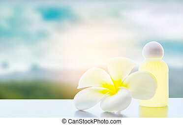 frangipani, plumeria, zdrój, kwiat