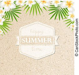 frangipani, sabbia, fondo