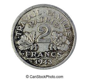 franken, 2, franse , 1943