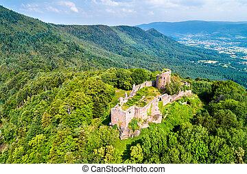 Frankenbourg castle in the Vosges Mountains, France