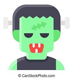 Frankenstein avatar, Halloween costume vector illustration