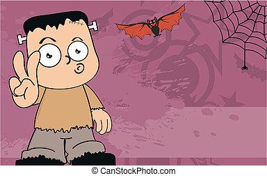 frankenstein, background3, cartone animato