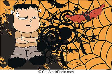 frankenstein, background5, cartone animato