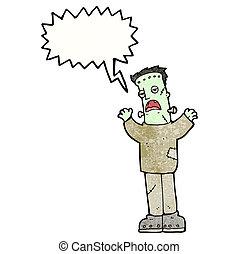 frankenstein, cartone animato