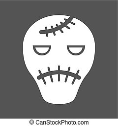 Frankenstein, halloween, cartoon icon vector image. Can also...