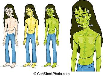 Frankenstein Halloween Character.