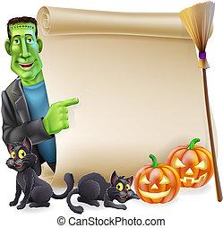 frankenstein, halloween, rotolo