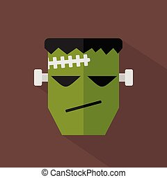Frankenstein Icon | Set of great flat icons design illustration concepts for day off, holiday event, halloween and much more.