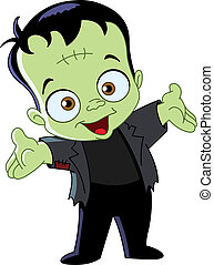 Frankenstein kid - Cartoon Frankenstein kid