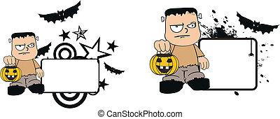 Frankenstein kid halloween5
