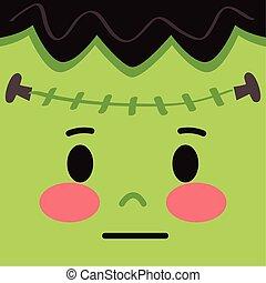 frankenstein mask halloween costume face