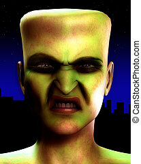 Frankenstein Monster Head 3
