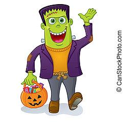 Frankenstein, monstruo, calabaza