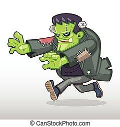 frankenstein, monstruo, ilustración