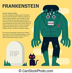 frankenstein Vector flat illustration