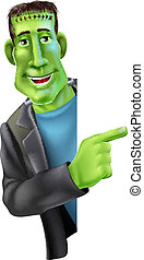 Frankensteins monster Pointing - An illustration of a...