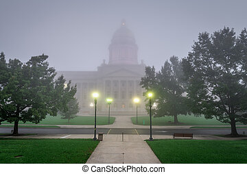 Frankfort, Kentucky, USA with the Kentucky State Capitol