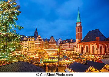 frankfurt, 圣诞节, 市场