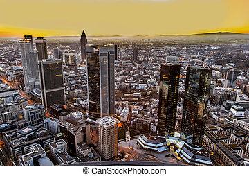 Frankfurt am Main at dusk