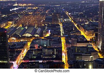 Frankfurt am Main at night