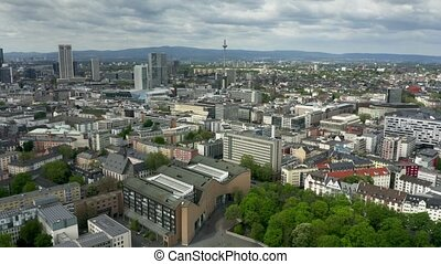 Frankfurt am Main cityscape, aerial view - Frankfurt am Main...